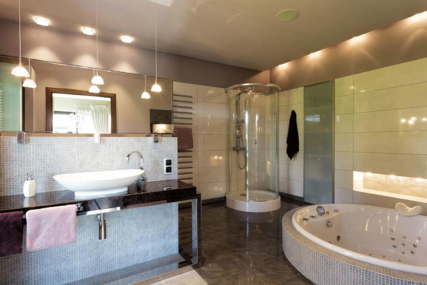 32 bathrooms with dark floors - Accesorios para jacuzzi ...