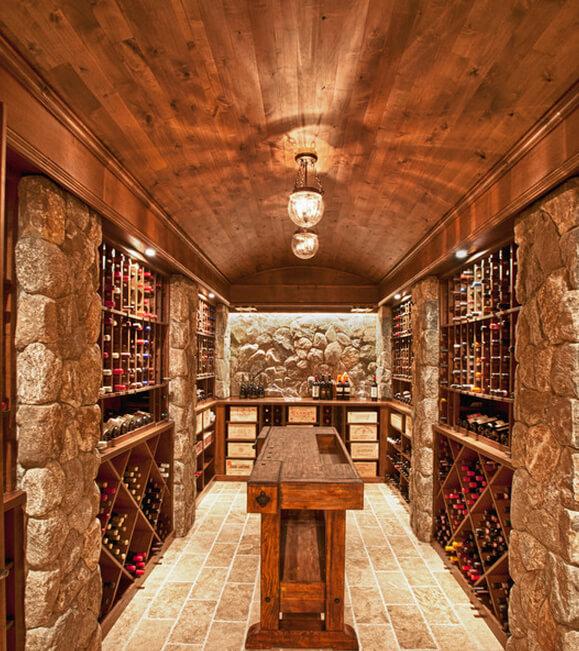 13 Wine Cellar Ceiling Ideas by CEILTRIM Inc : ACME Barrel Vault in wine cellar 8 from www.homestratosphere.com size 579 x 651 jpeg 130kB