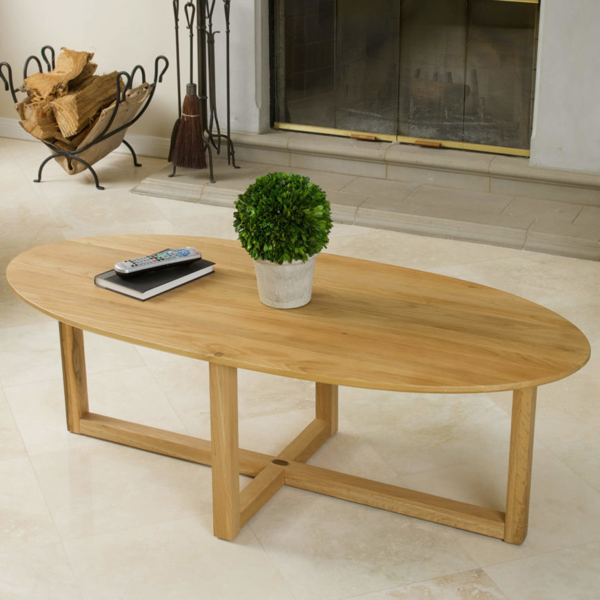 Large Oval Wood Coffee Table: 20 Top Wooden Oval Coffee Tables