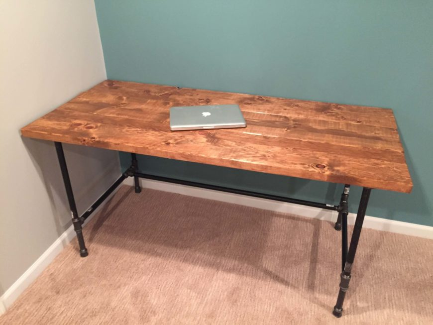 diy how to build a rustic factory salvage desk