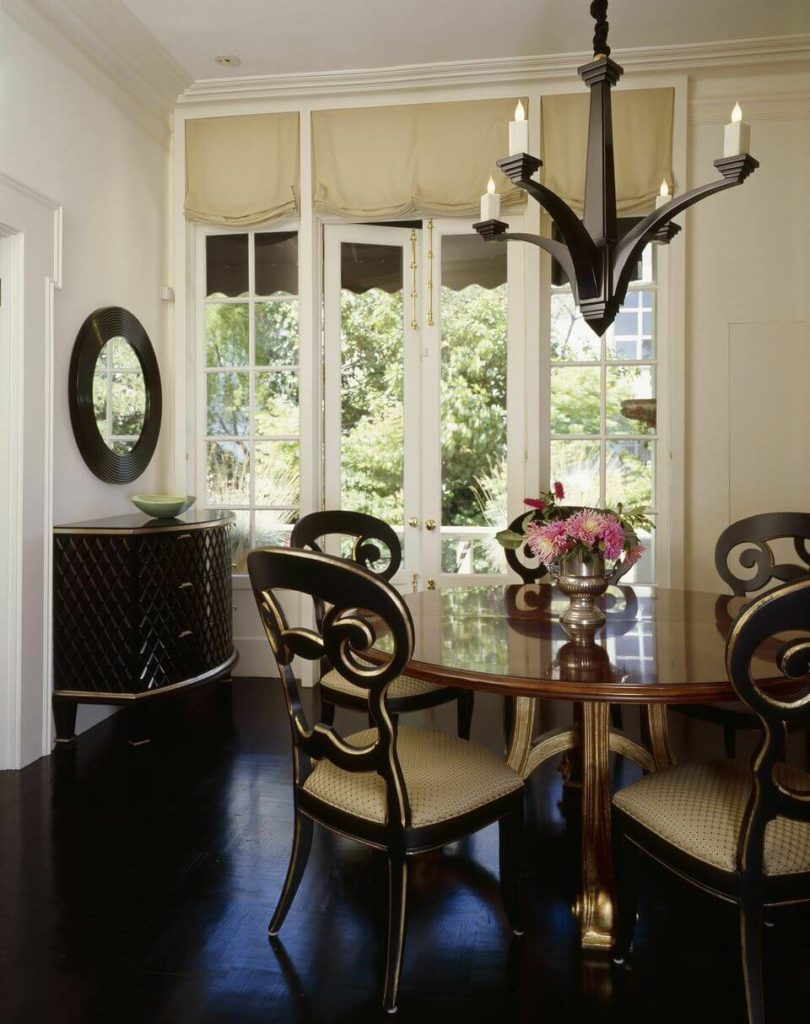 Golden Wooden Dining Room Chairs