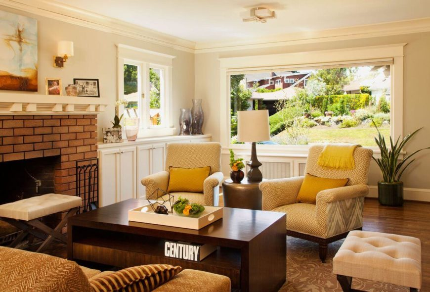 1920s house with a fresh outlook by garrison hullinger for Living room ideas 1920s