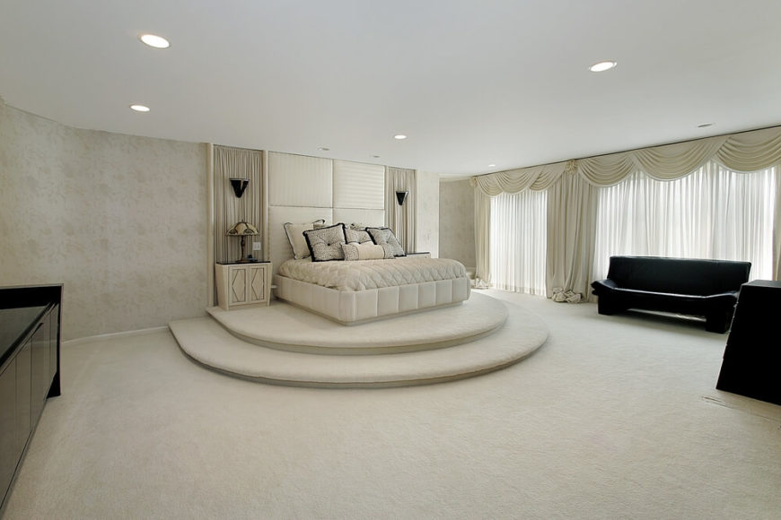 couches for bedrooms. Simple For A Bold And Spacious White Bedroom With A Black Sofa To Couches For Bedrooms