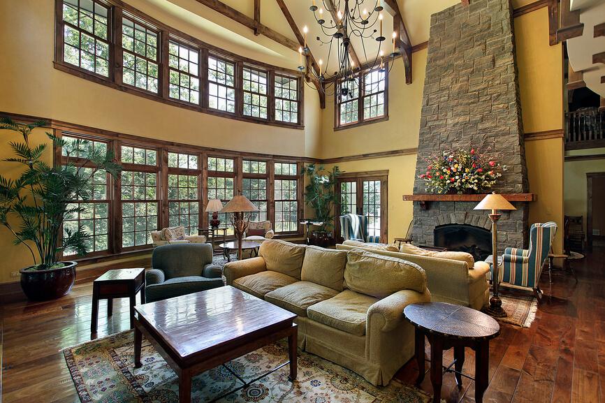 Living Room Pine Trim