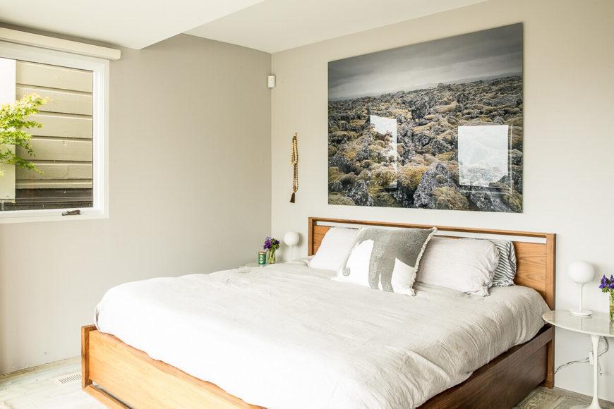 Rustic yet minimalist airy home full of worldly treasures for Minimalist rustic bedroom