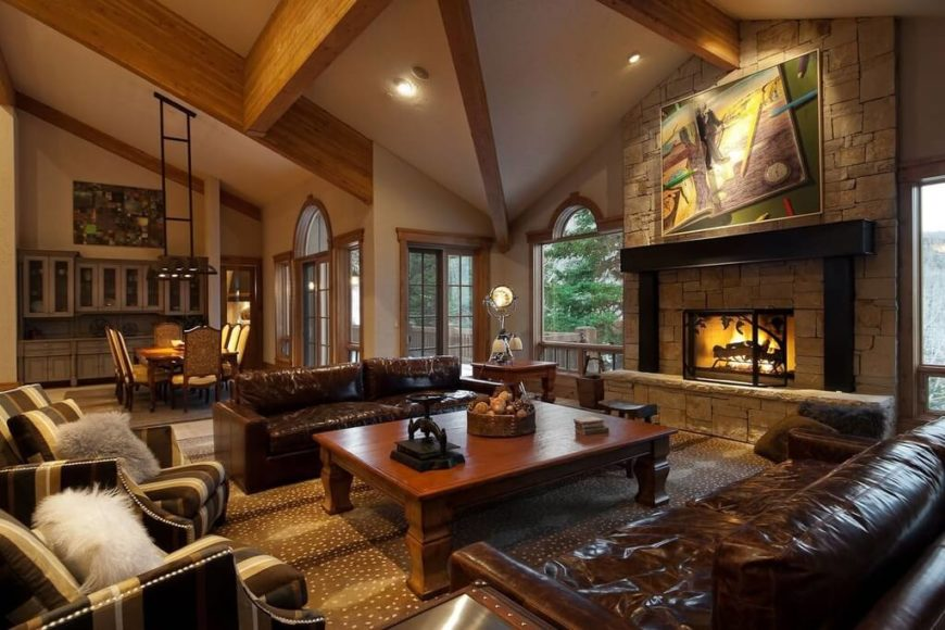 25 cozy living rooms with fireplaces | home stratosphere
