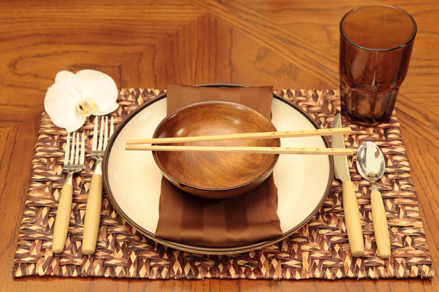 asian table settings