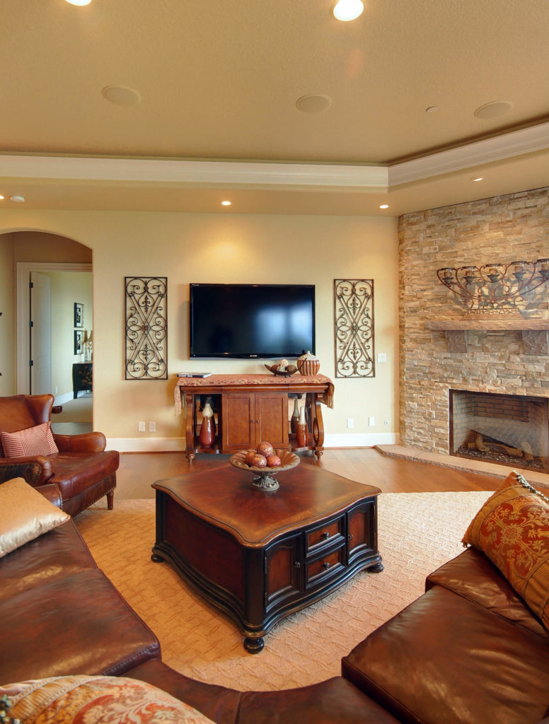 Living Room Furniture Wood 25 Cozy Living Rooms With Fireplaces