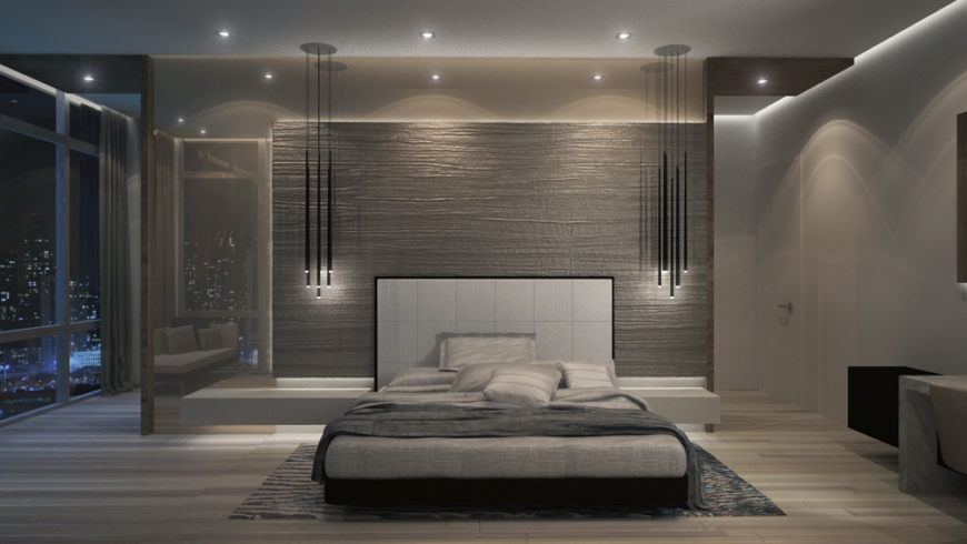 Incredible new york penthouse by pepe calderin designs for Bedroom designs new york