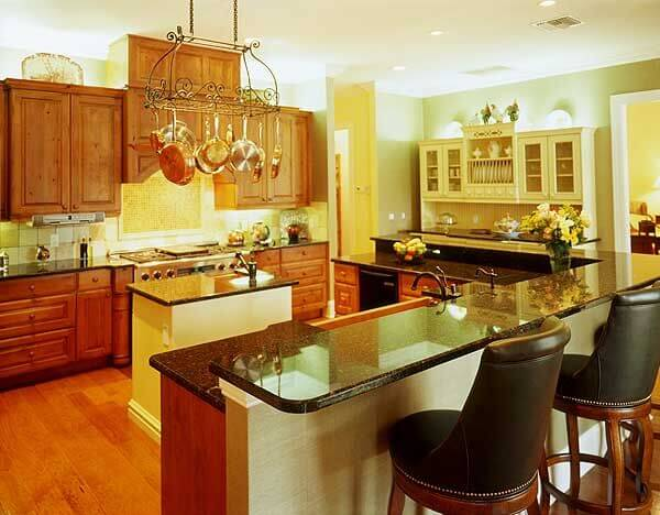 This Elegant Space Is Full Of Bright Recessed Lights. The Use Of Glossy  Countertops And Part 83