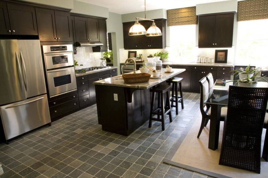 Contrasting Kitchen Island Countertop