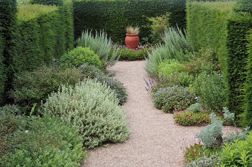 41 incredible garden hedge ideas for your yard photos for Garden windbreak designs