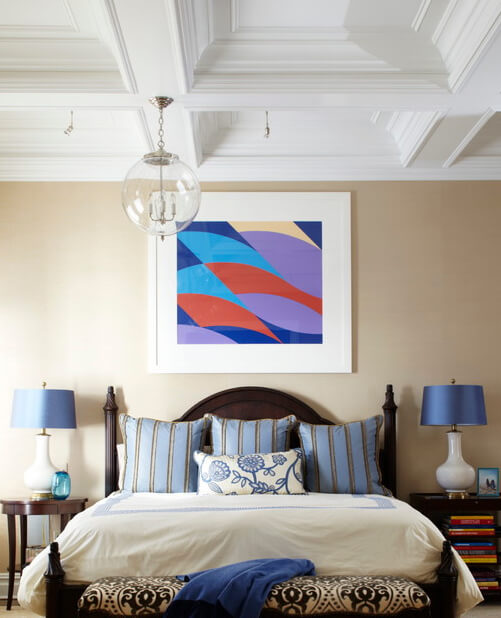 The Recessed Ceiling Brings Visual Interest To The Room But Allows The  Colors To Come To