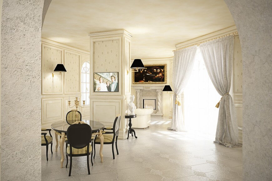 A Fine Example Of Traditional Luxurious Family Dining Space The Ivory And Cream Design