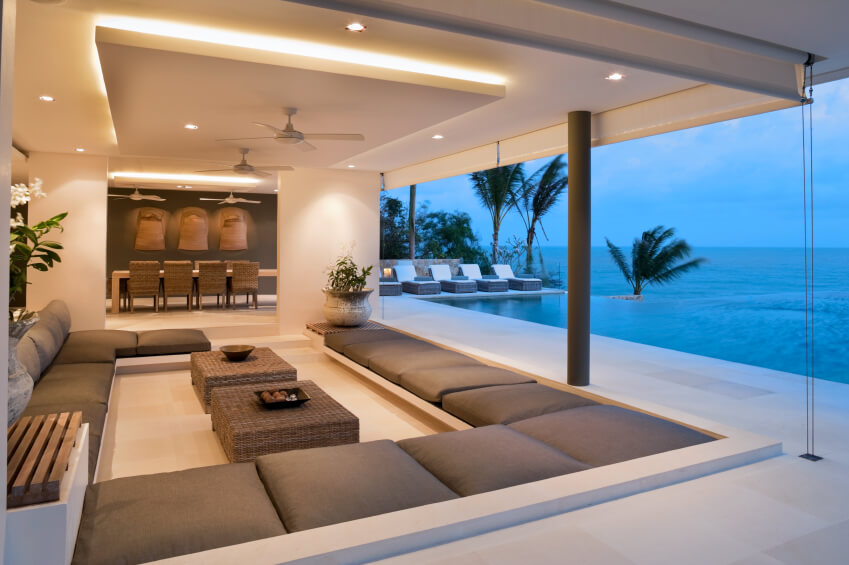 This Stunning Living Area Overlooks A Crystal Blue Ocean. The Seating Area  Is Comprised Of Part 95