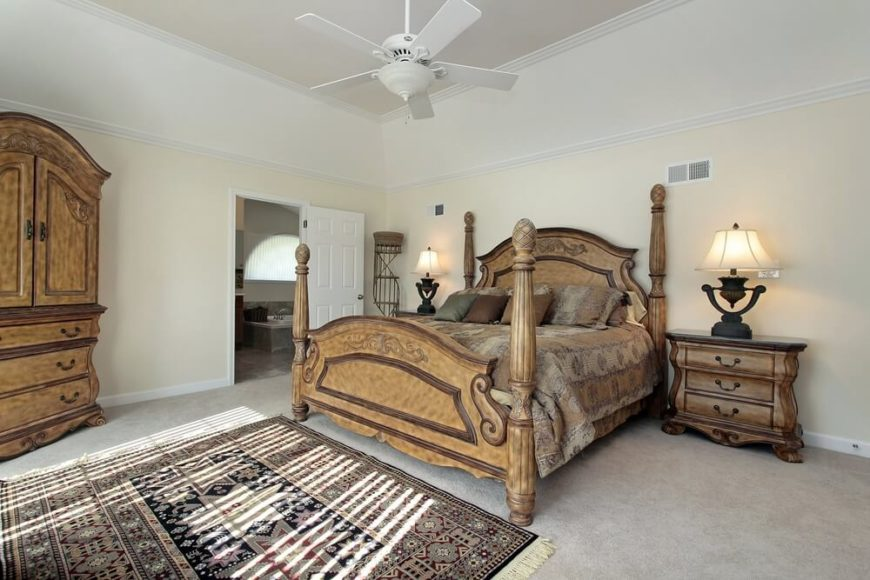bedroom makes the grand furniture a stunning focal point an area rug