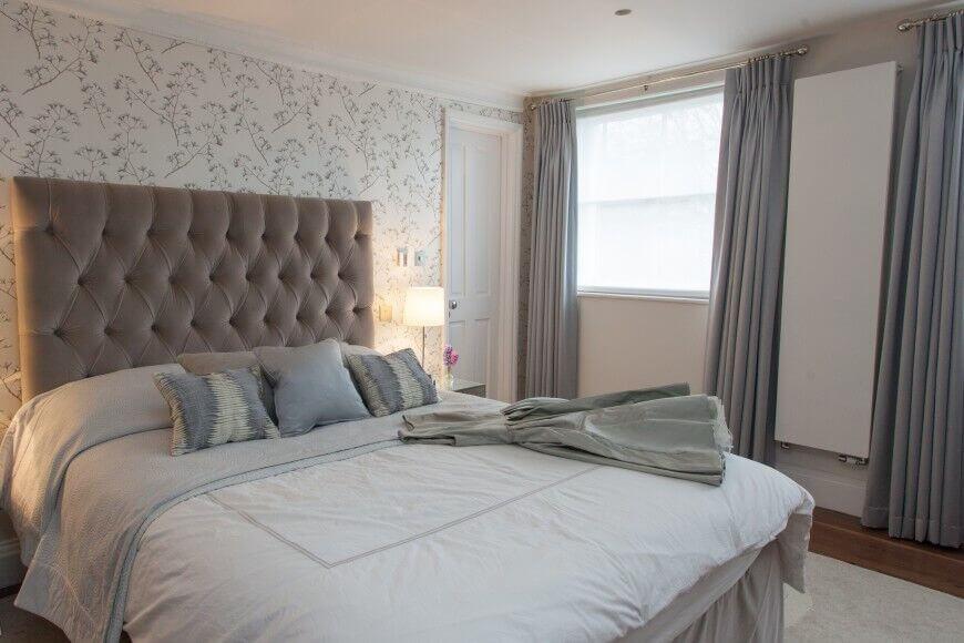 Elegant Bedroom Wall Decor Grey An Turquoise