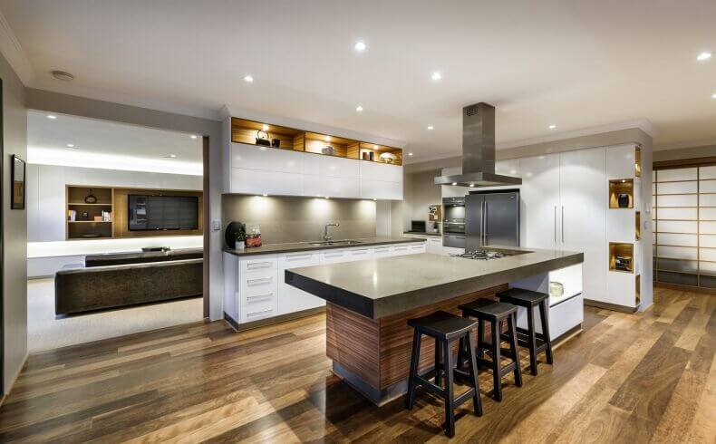 In An Expansive, Minimalist Open Plan Home, The Kitchen Is Defined By Its Part 73