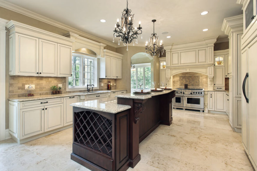 Kitchen Design With Island And Bar luxury kitchen island bar with wine rack i on design inspiration