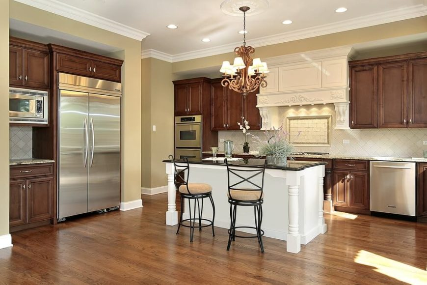 White Island in Natural Wood Kitchen