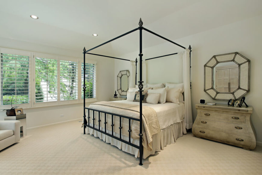 Iron Four Poster Bed 18 master bedrooms featuring canopy beds and four poster beds