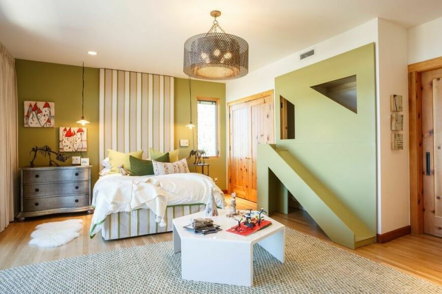 This Adorable Children S Room Features Two Closets One Of Which Has Been Converted Into A