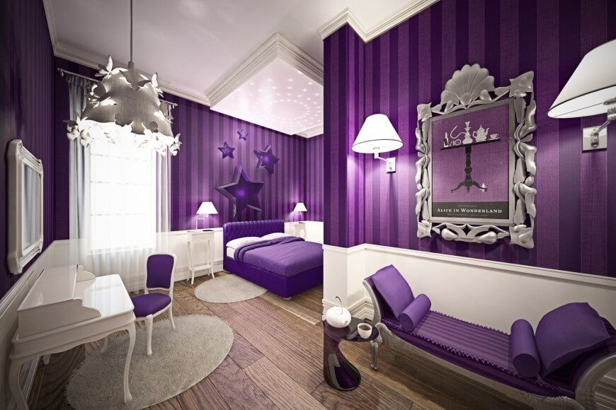 27 whimsical children s rooms by top designers worldwide pictures Royal purple master bedroom