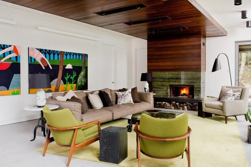 Good The Beautiful Marble Wrapped Fireplace Plays The Focal Point In This Room,  Countered By The