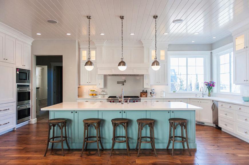 38 Quaint Contemporary Cottage Kitchens (Pictures)