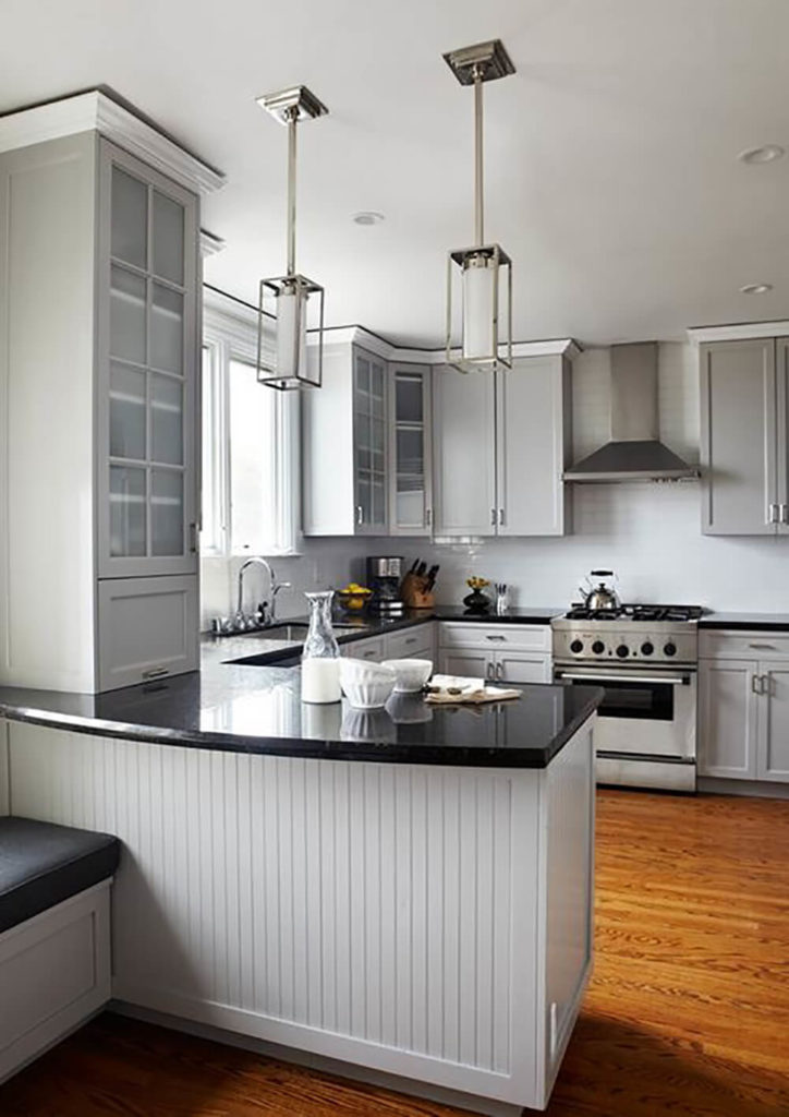 This Is A Sleek Very Contemporary Example Of A Cottage Kitchen The Use Of