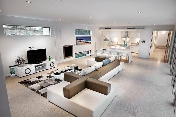 The Most Stunning Part Of This Living Room Is Enormous Modular Sofa Which Allows