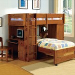 Featured bunk bed with desk