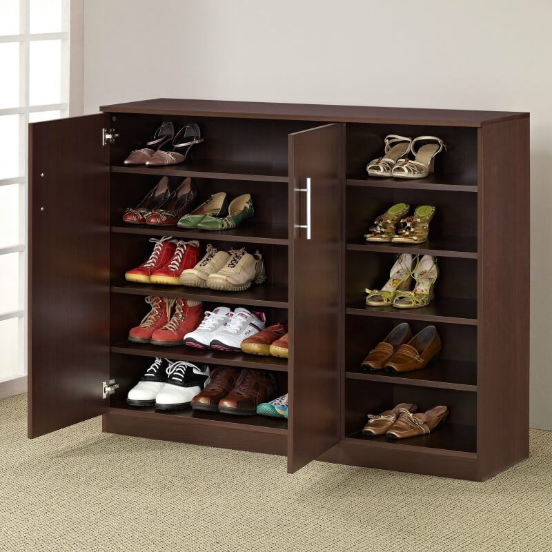 143 home storage and organization ideas room by room for Front door shoe storage