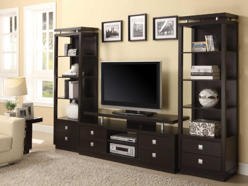 centers generally are large pieces of furniture so they have lots of potential for