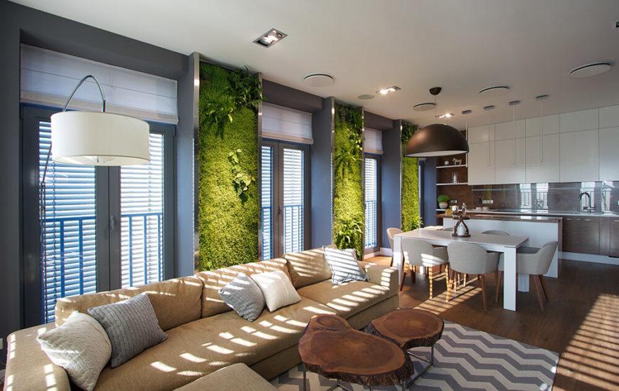 Garden Apartment Living Rooms