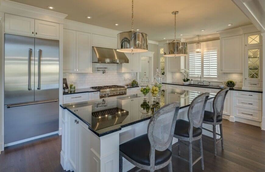 White Kitchen Light Granite 36 inspiring kitchens with white cabinets and dark granite (pictures)