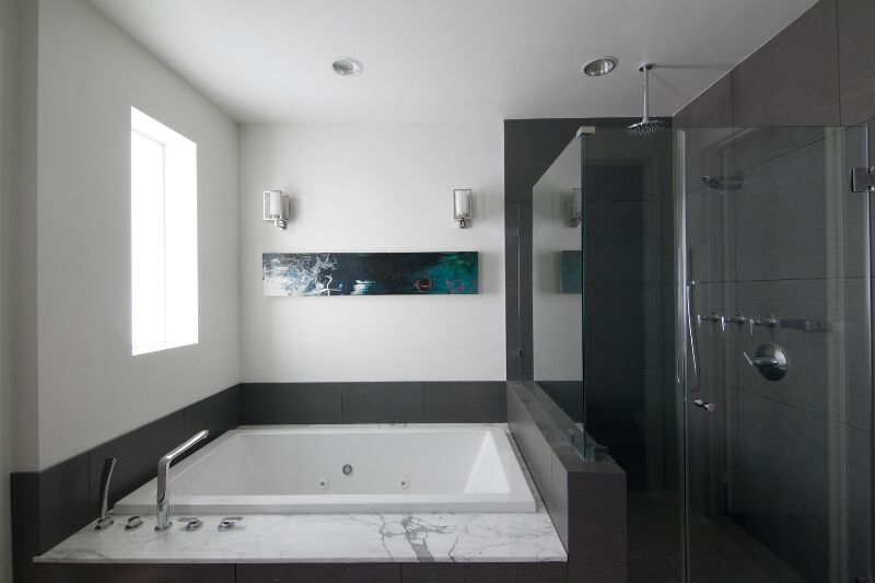 with the right orientation even smaller master bathrooms can have the luxury of a large