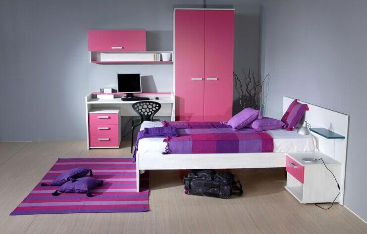 28 beautiful bedrooms with white furniture pictures - Bright house bedroom furniture ...
