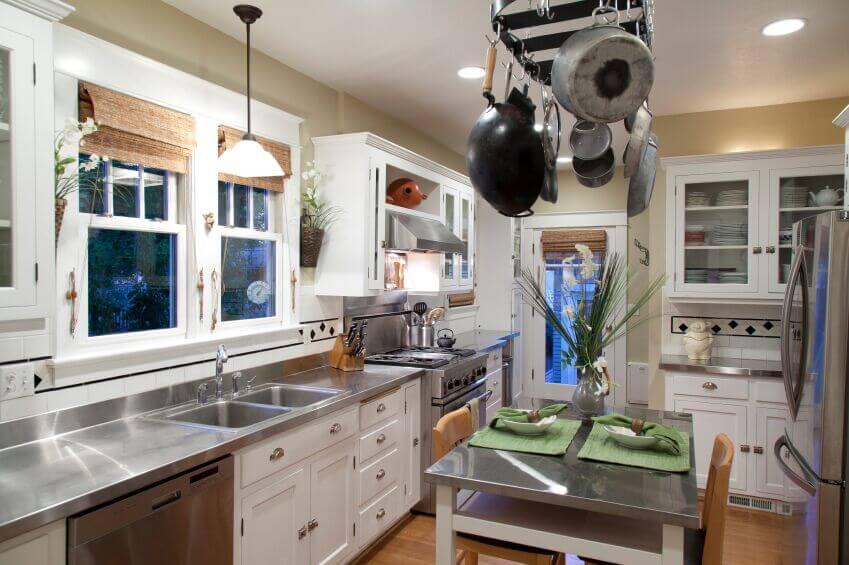 15 kitchens with perfect pot racks pictures pot racks