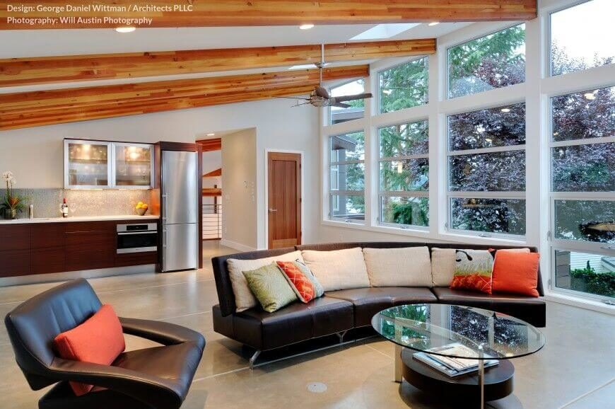 32 spectacular living room designs with exposed beams pictures Modern dream home design ideas