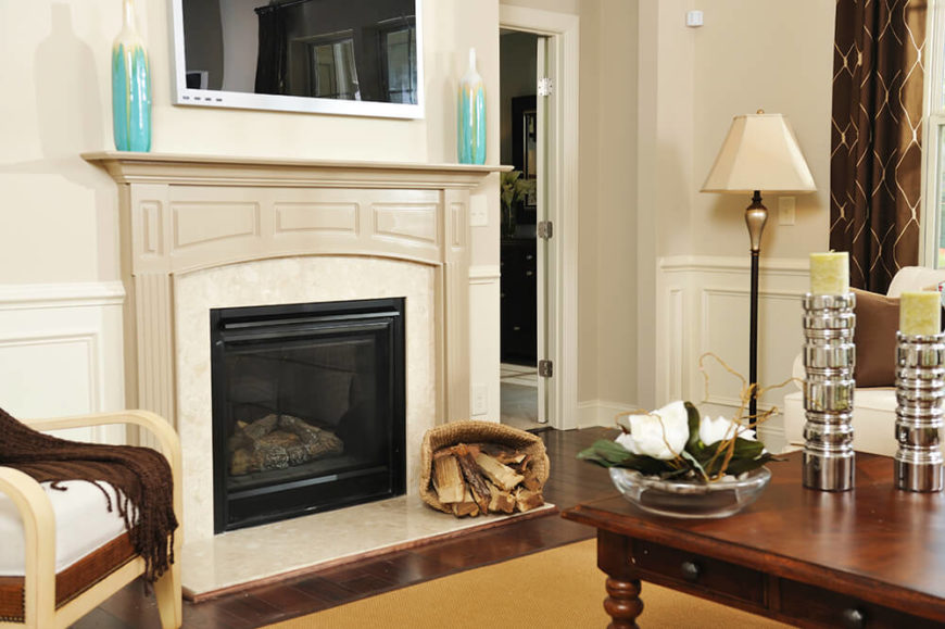 Fireplace Design fireplace tv mount : 49 Exuberant Pictures of TV's Mounted Above Gorgeous Fireplaces ...