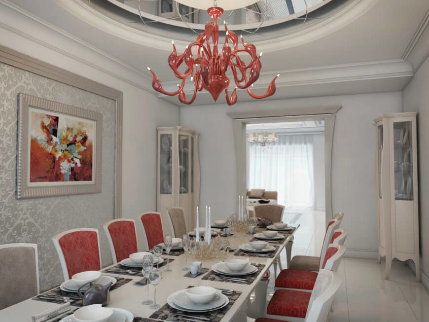 This Striking Color Combination Is A Great Visual In Dining Room The Tan Chairs