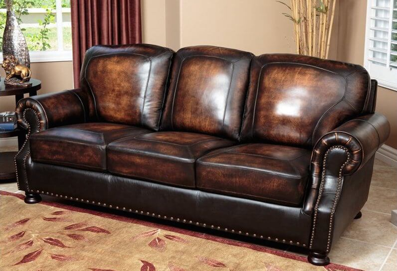 Man Cave Leather : Top man cave sofas from around the web