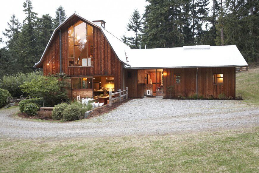 41 marvelous examples of home exterior ideas pictures for Affordable barn homes