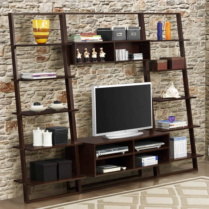 This Entertainment Center Drops A Thoroughly Open Design Into Your Man  Cave, With A Barely