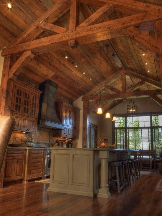 Wood Beam Ceiling Ideas ~ Quaint rustic kitchen designs tons of variety