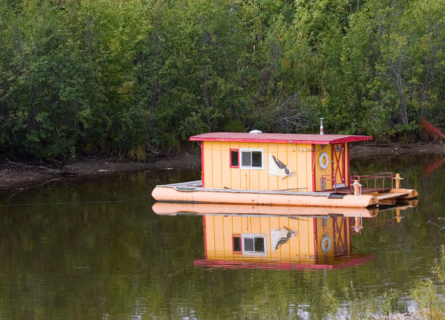 32 incredible and unique houseboat designs photos for Boat house designs plans