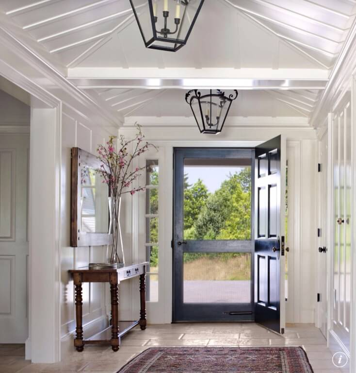 White Foyer Lighting : Gorgeous foyers with wainscoting