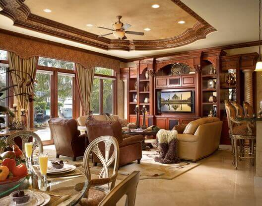 Ceiltrim living room.