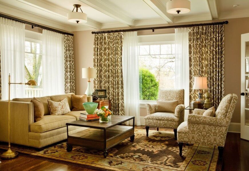 Luxury Does Not Always Mean Expansiveness. This Cozier Living Room Is Flush  With Textural Detail Part 79